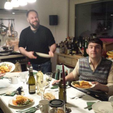 Essen und quatschen und trinken und motzen