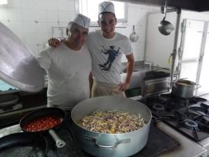 Chefkoch Antonio und Hilfskoch Andrea haben einen guten Geschmack